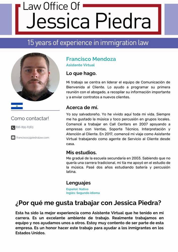 Francisco Mendoza, Asistente Virtual